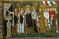 Ravenna: Basilica of San Vitale--Empress Theodora with her Court.