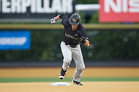 Bruce Steel (17) of the Wake Forest Demon Deacons takes off for third base during the game against the West Virginia Mountaineers in Game Six of the Winston-Salem Regional in the 2017 College World Series at David F. Couch Ballpark on June 4, 2017 in Winston-Salem, North Carolina.  The Demon Deacons defeated the Mountaineers 12-8.  (Brian Westerholt/Four Seam Images)