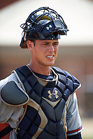GCL Braves catcher Collin Yelich (62) during practice before a game against the GCL Astros on July 23, 2015 at the Osceola County Stadium Complex in Kissimmee, Florida.  GCL Braves defeated GCL Astros 4-2.  (Mike Janes/Four Seam Images)