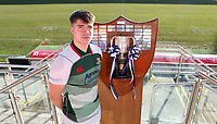 Monday 27th January 2020 | Ulster Schools' Cup Draw<br /> <br /> Friends School Lisburn captain Jack Hurte at the draw for the Ulster Schools' Cup Quarter Finals held at Kingspan Stadium, Ravenhill Park, Belfast, Northern Ireland. Fixtures to be played on or before 8 Feb 2020.  Photo credit - John Dickson DICKSONDIGITAL