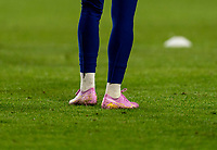 CARSON, CA - FEBRUARY 7: Megan Rapinoe #15 of the United States warms up in her one of a kind shoes celebrating her Ballon d'Or win during a game between Mexico and USWNT at Dignity Health Sports Park on February 7, 2020 in Carson, California.
