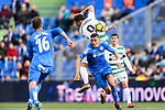 Sergi Enrich Ametller of SD Eibar (L) fights for the ball with Fayçal Fajr of Getafe CF (R) during the La Liga 2017-18 match between Getafe CF and SD Eibar at Coliseum Alfonso Perez Stadium on 09 December 2017 in Getafe, Spain. Photo by Diego Souto / Power Sport Images