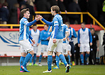 Aberdeen v St Johnstone…29.04.17     SPFL    Pittodrie<br />Craig Thomson and Blair Alston celebrate at full time<br />Picture by Graeme Hart.<br />Copyright Perthshire Picture Agency<br />Tel: 01738 623350  Mobile: 07990 594431