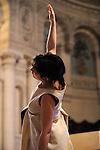 ANNONCIATION<br /> <br /> Chorégraphie : COQUEMPOT Mié<br /> Danse : K622 - Ingrid Cogne, Agnès Coutard, Maud Pizon, Beatriz Setien Yeregui<br /> Chant : Le quatuor Gabriel -  Frère Benoît, Frère Dominic, Frère François-Xavier<br /> Orgues Silbermann : Jacques Kauffmann, Frère Dominic<br /> Costumes : Akiko Takebayashi<br /> Musique : Chants Grégoriens, JS Bach (BWV 588 & BWV 552), J Baez, Dominic White (Sea Dance)<br /> Mise en oeuvre et images : Mié Coquempot<br /> Dans le cadre des jeudis du 222 : www.lesjeudisdu222.org<br /> Lieu : Eglise de l'Annonciation<br /> Ville : Paris<br /> Le : 25 03 2010<br /> © Laurent PAILLIER / photosdedanse.com<br /> All rights reserved