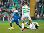 Celtic v St Johnstone…18.02.18…   Celtic Park    SPFL<br />George Williams goes by Eboui Kouasse<br />Picture by Graeme Hart. <br />Copyright Perthshire Picture Agency<br />Tel: 01738 623350  Mobile: 07990 594431