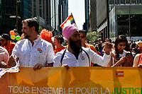NPD Jagmeet Singh attend Montreal gay pride 2017