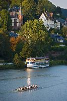 Europe/Allemagne/Bade-Würrtemberg/Heidelberg: la rive droite du Neckar et aviron