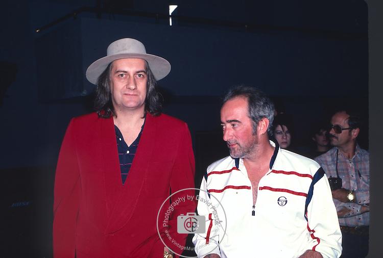 Mick Fleetwood & John McVie of Fleetwood Mac in Los Angeles 1987.