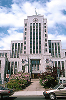 Vancouver: City Hall--Elevation. Architects Townley & Matheson, 1936.  Photo '86.