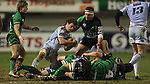 Blues flanker Rory Watts-Jones dives on the loose ball..Celtic League.Cardiff Blues v Connacht.22.02.13.©Steve Pope-SPORTINGWALES