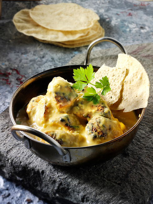 Chicken Korma curry & rice, Indian food recipe  pictures, photos & images