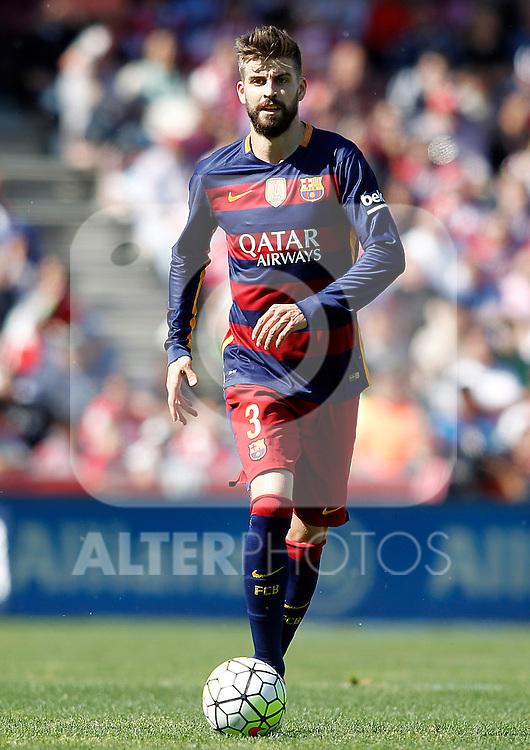 FC Barcelona's Gerard Pique during La Liga match. May 14,2016. (ALTERPHOTOS/Acero)