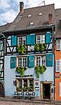 A colorful restaurant on the Quai de la Poissonnerie in Colmar