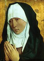 Paintings:  Dieric Bouts (1420-1475) --La Vierge de douleur.  Louvre. Reference only.