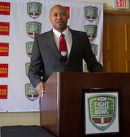 David Shaw with Stanford University at the Bay Area College Football Media Day/Luncheon at the Hotel Nikko in San Franciscofor Kraft Flight Hunger Bowl on July 30.2012. ( Photo by Norbert von der Groeben ) .