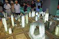 CBD area in the model of Beijing's city master plan at Beijing Planning Exhibition Hall. The Beijing CBD is a projected part of Beijing city, which is an area currently under immense development..