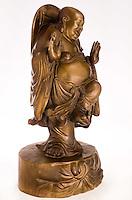 Antique bronze dancing Buddha sculpture