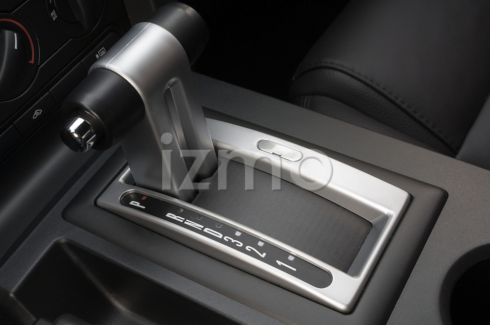 Gear shift detail of a 2006 Ford Mustang Coupe
