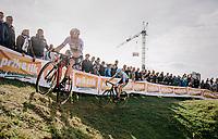 Elite Men CX World Champion Wout van Aert (BEL/Cibel-Cebon) followed closely by Michael Vanthourenhout (BEL/Marlux-Bingoal)<br /> <br /> GP Mario De Clercq / Hotond cross 2018 (Ronse, BEL)<br /> photo ©kramon