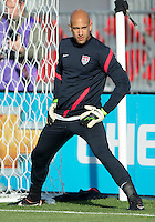 03 June 2012: US Men's National Soccer Team goalkeeper Tim Howard #1in action during the warm-up in an international friendly  match between the United States Men's National Soccer Team and the Canadian Men's National Soccer Team at BMO Field in Toronto..The game ended in 0-0 draw..