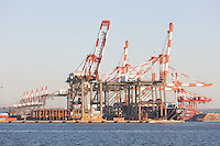 The Maher Terminals container terminal facility in the Port Newark-Elizabeth Marine Terminal in Newark Bay.