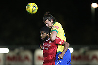 Charlie Edwards of Wingate & Finchley and Ellis Brown of Hornchurch during Hornchurch vs Wingate & Finchley, Pitching In Isthmian League Premier Division Football at Hornchurch Stadium on 6th October 2020