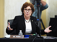 United States Senator Jacky Rosen (Democrat of Nevada) speaks at the US Senate Small Business and Entrepreneurship Hearings to examine implementation of Title I of the CARES Act on Capitol Hill in Washington, DC on Wednesday, June 10, 2020. <br /> Credit: Kevin Dietsch / Pool via CNP/AdMedia