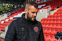 Fleetwood Town's defender Tommy Spurr (6) arriving for the  Sky Bet League 1 match between Fleetwood Town and Barnsley at Highbury Stadium, Fleetwood, England on 29 September 2018. Photo by Stephen Buckley / PRiME Media Images.
