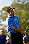 PALM BEACH GARDENS, FL. - Jeff Klauk reacts to a bad tee shot during Round Three play at the 2009 Honda Classic - PGA National Resort and Spa in Palm Beach Gardens, FL. on March 7, 2009.