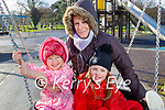 Enjoying the playground in the Tralee Town Park on Sunday, l to r: Jennifer and Louisa Twomey and Adeline Palleschi.