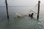 teen boy relaxing in the ocean