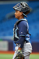 Tampa Bay Rays David Rodriguez (68) during an instructional league game against the Boston Red Sox on September 24, 2015 at Tropicana Field in St Petersburg, Florida.  (Mike Janes/Four Seam Images)