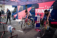 Tom Pidcock (GBR) warming up (with Sean Kelly standing by)<br /> <br /> Elite & U23 Mens Race<br /> 42nd Superprestige cyclocross Gavere 2019<br /> <br /> ©kramon