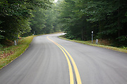 Bear Notch Road in Bartlett, New Hampshire USA. This road follows much of the old Bartlett and Albany Railroad which was a logging railroad in operation from 1887 - 1894
