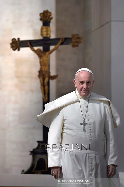 Pope Francis during his weekly general audience in St. Peter square at the Vatican, Wednesday.October 8, 2014
