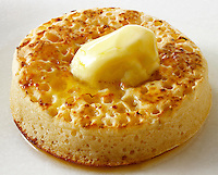 British Food - Buttered Crumpet