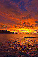 Sunset over Truk Lagoon Micronesia