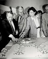 1987 FILE PHOTO - ARCHIVES -<br /> <br /> Lester B. Pearson International Airport,Terminal 3 Trillium - Model<br /> <br /> 1987<br /> <br /> PHOTO :  Erin Comb - Toronto Star Archives - AQP