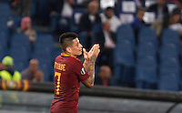 Calcio, Europa League: Roma vs Astra Giurgiu. Roma, stadio Olimpico, 29 settembre 2016.<br /> Roma's Juan Iturbe reacts after missing a scoring chance during the Europa League Group E soccer match between Roma and Astra Giurgiu at Rome's Olympic stadium, 29 September 2016. Roma won 4-0.<br /> UPDATE IMAGES PRESS/Riccardo De Luca
