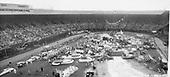 Rose Festival floats in Multnomah Stadium. June 12, 1953