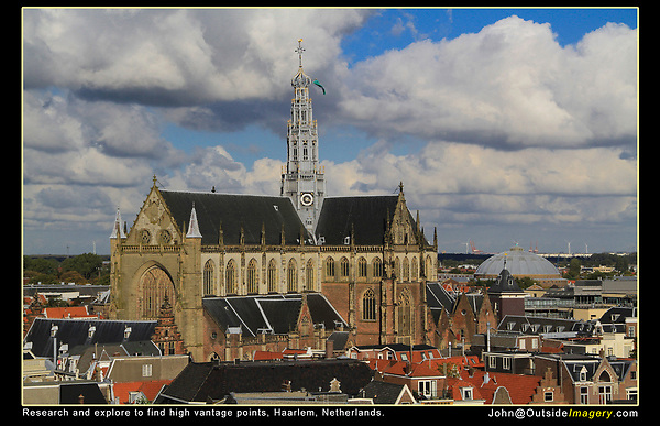 Netherlands, Haarlem.  Find a High Spot.<br />