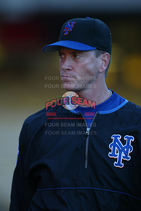 Tom Glavine of the New York Mets during a 2003 season MLB game at Dodger Stadium in Los Angeles, California. (Larry Goren/Four Seam Images)