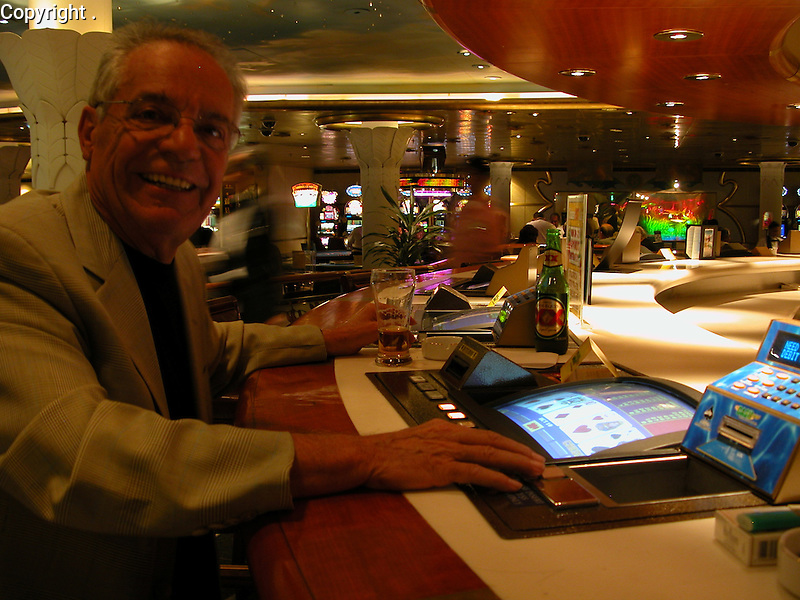 One of Guy's favorite pass times while on a cruise ship is playing in the Casino....and he has proven to be a lucky man!
