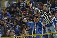 BOGOTÁ -COLOMBIA, 02-08-2014. Aspecto de los hinchas de MIllonarios durante el encuentro entre Millonarios y Boyacá Chicó FC por la fecha 3 de la Liga Postobón II 2014 jugado en el estadio Nemesio Camacho El Campín de la ciudad de Bogotá./ Aspect of the followers of Millonarios during the match between Millonarios and Boyaca Chico FC for the third date of the Postobon League II 2014 played at Nemesio Camacho El Campin stadium in Bogotá city. Photo: VizzorImage/ Gabriel Aponte / Staff