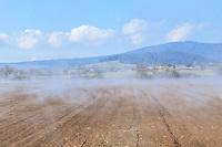 France, Haute Loire, Saint Christophe sur Dolaison, landscape with mist // France, Haute-Loire (43), Saint-Christophe-sur-Dolaison, paysage avec brume