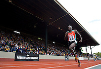 EUGENE, OR--Paul Koech Kenya sets a new Hayward Field and Pre Classic record in the men's 3000m steeple with a time of 8:08:08 at the Steve Prefontaine Classic, Hayward Field, Eugene, OR. SUNDAY, JUNE 10, 2007. PHOTO © 2007 DON FERIA