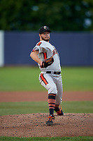 Aberdeen Ironbirds pitcher Kevin Magee (39) during a NY-Penn League game against the Staten Island Yankees on August 22, 2019 at Richmond County Bank Ballpark in Staten Island, New York.  Aberdeen defeated Staten Island 4-1 in a rain shortened game.  (Mike Janes/Four Seam Images)