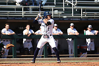 CARY, NC - FEBRUARY 23: Gavin Homer #2 of Penn State University waits for a pitch during a game between Wagner and Penn State at Coleman Field at USA Baseball National Training Complex on February 23, 2020 in Cary, North Carolina.