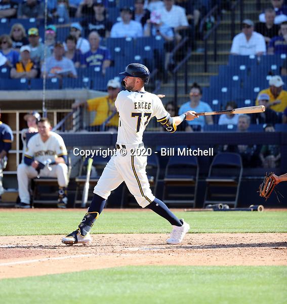 Lucas Erceg - Milwaukee Brewers 2020 spring training (Bill Mitchell)