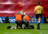 9th November 2019 | Munster vs Ulster<br /> <br /> Jack McGrath dislocates his thumb during the Round 6 PRO14 League clash between Munster Rugby and Ulster Rugby at Thomond Park, Limerick, Ireland. Photo by John Dickson / DICKSONDIGITAL
